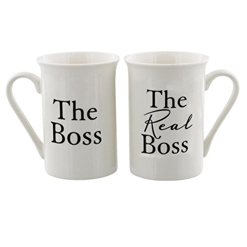 Oaktree Gifts The Boss and The Real Boss 2 Piece Mug Set