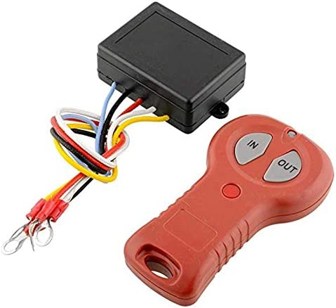 Nrpfell Verricello Kit Telecomando Senza Fili per Bulldog per ATV SUV Offroad 12V-24V Telecomandi Verricello