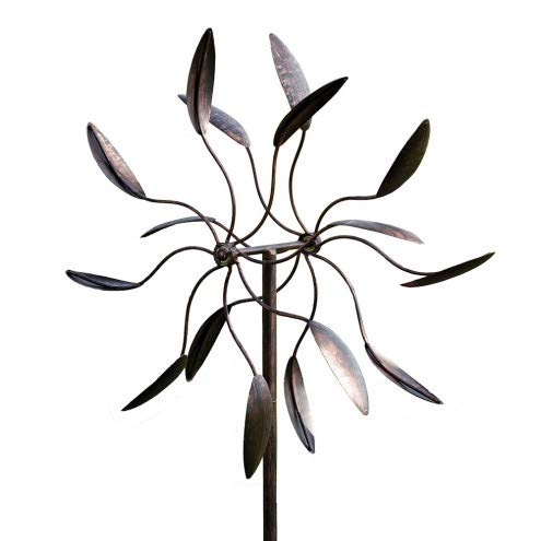 Evergreen Garden Twirler Powder-Coated Metal Kinetic Wind Spinner - 24