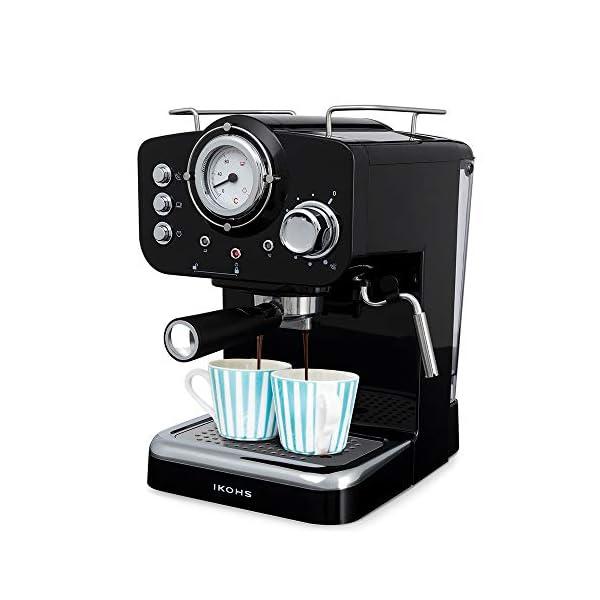 IKOHS THERA RETRO - Macchina del Caffè Express per caffè espresso e cappuccino, 1100 W, 15 bar, vaporizzatore regolabile… 1
