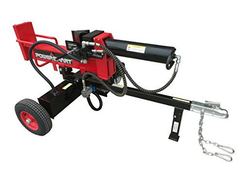 PowerSmart 25 Ton Gas Log Splitter, Red/Black
