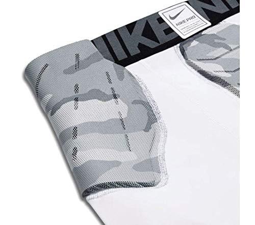 NIKE Adult Hyperstrong Padded Camo Girdle,(White/Grey,X-Large)