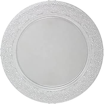 Amazon.com | Posh Setting Clear Charger Plates, Hammered Design ...