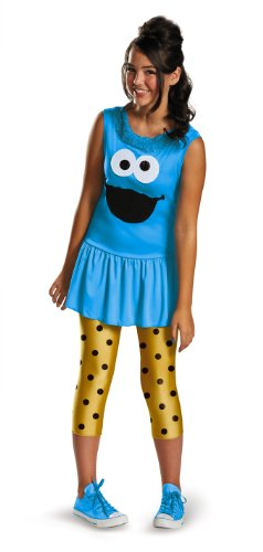 Disguise Sesame Street Cookie Monster Tween Classic Costume, (Cookie Monster Halloween Costume For Girls)