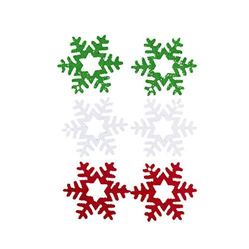 Mome ʕ •ᴥ•ʔ Christmas Pendants ʕ •ᴥ•ʔ 6PCS Felt Colorful Xmas Tree Pendants DIY Ornaments for Christmas Party Hanging Small Tool,[with Small Rope] (A)
