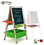 Best Easel For Kids - Gimilife Deluxe Easel for Kids, Folding Wooden Art Review