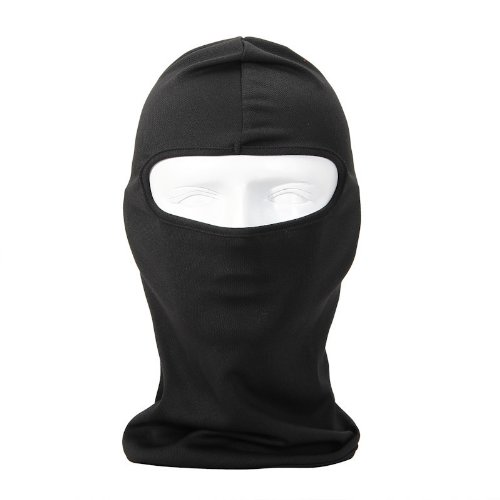 NewNow Candy Color Ultra Thin Ski Face Mask Great Under A Bike / Football Helmet Balaclava-Black