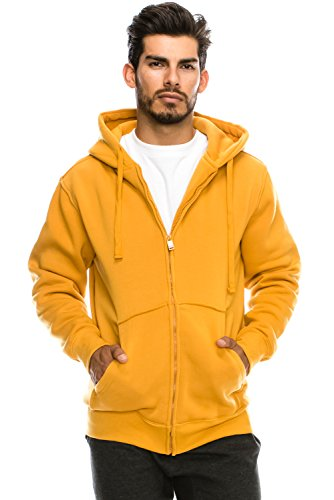 Mens Hipster Hip Hop Basic Unisex Zip-Up Hoodie Jacket TIMBER XLARGE