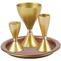Anodize Aluminum Havdallah Set - Gold