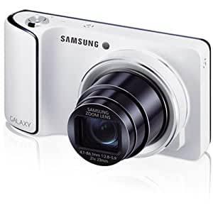 "Samsung EK-GC110 Galaxy Camera with Android Jelly Bean v4.1.2 OS, 16MP CMOS with 21x Optical Zoom and 4.8"" Touch Screen LCD, WiFi (White)"