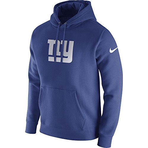 Men's Nike New York Giants Club Pullover Fleece Hoodie Rush Blue/White Size Small