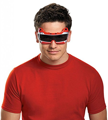 [Disguise Men's Saban Mighty Morphin Red Ranger Adult Costume Accessory Glasses, Red, One Size] (Red Samurai Adult Costumes)