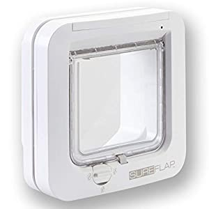 SureFlap - Sure Petcare Microchip Cat Flap, White, Scans Pet's ID Microchip on Entry 41