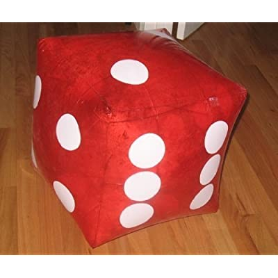"HUGE 16"" Inflatable RED Dice - PARTY DECORATION/Favor/GAG/Prank GIFT/CASINO/INFLATE/TOY: Toys & Games"
