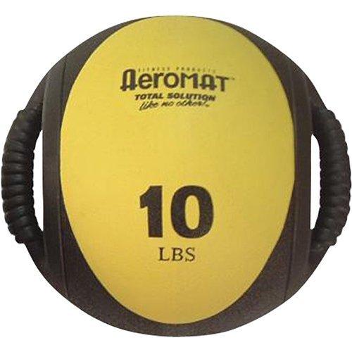 Aeromat Dual Grip Power Medicine Ball, 9 cm 10-pound, schwarz Gelb BY Aeromat
