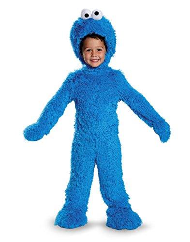 Cookie Monster Extra Deluxe Plush Costume, Medium