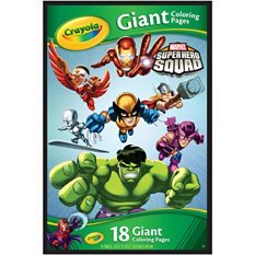 Amazon.com: CRAYOLA GIANT COLORING PAGES/MARVEL SUPER HERO SQUAD ...