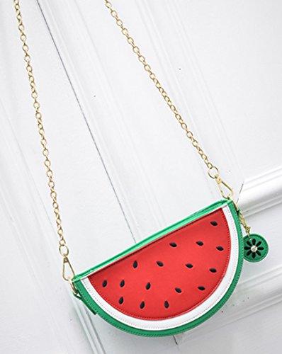 Chain Monique Fruit Watermelon Clutch Shoulder Red Satchel Travel Bag Cross body Beach Women Bag Girls Bag Phone Bag Handbag grptnwrqY
