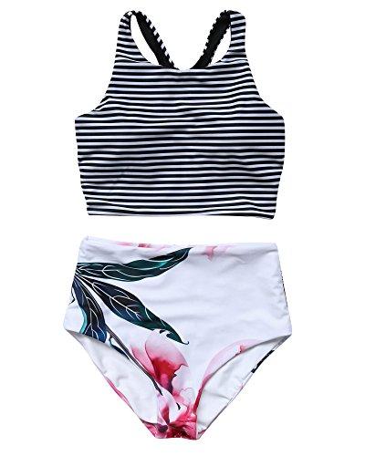 Black And White High Neck Bikini in Australia - 5