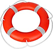 """23"""" Boat Throw Rings , Life Ring with Fluorescent Reflective Strip, White Grab Lines-Orange (1"""