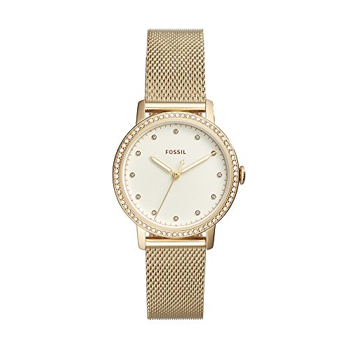 Fossil Women's Neely Quartz Watch with Stainless-Steel Strap, Gold, 16 (Model: ES4366) (Gold Watch For Women Fossil)