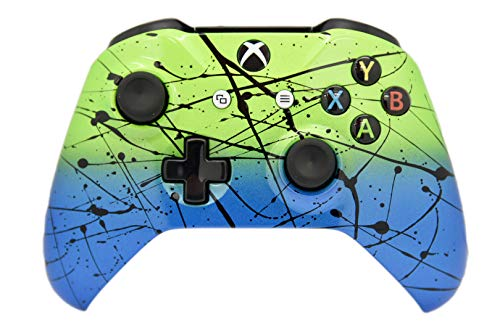 (Hand Airbrushed Fade Xbox One Custom Controller (Green & Blue))