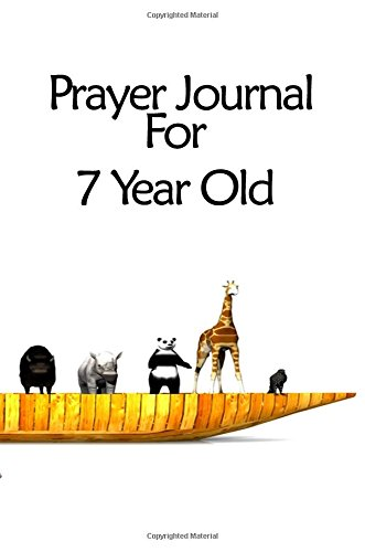 Prayer Journal For 7 Year Old: Blank Prayer Journal, 6 x 9, 108 Lined Pages