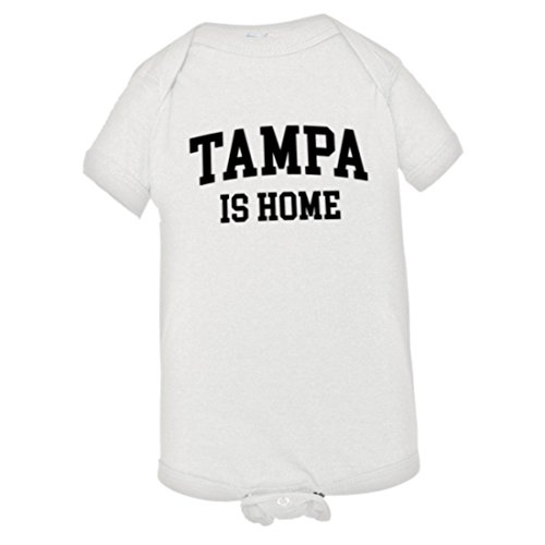 (Baby Tampa Florida TPA is Home Born in from HQ Jumpsuit-White-6M)