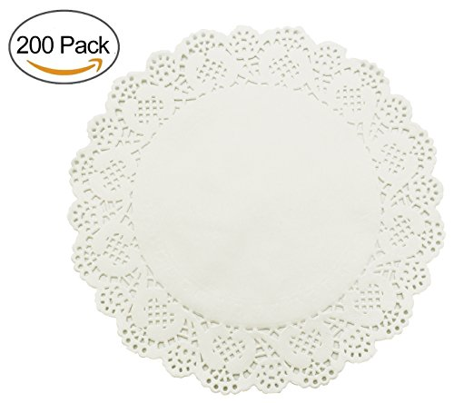 HOMEDECISION Lace Paper Doilies 10.5-inch 200pcs