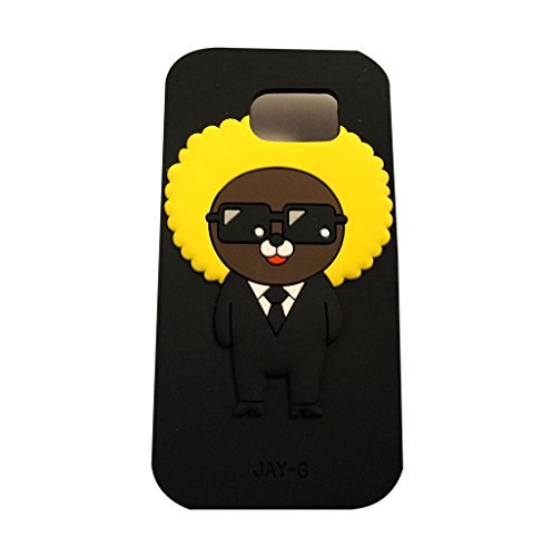 [Kakao Friends Emoticon Character Samsung Galaxy S6 (Silicon, Soft, Protective Case Cover) (Jay-G)] (Neo Costumes Sunglasses)