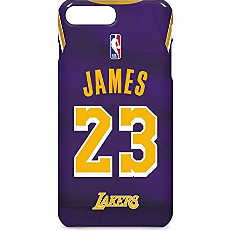 Skinit NBA Los Angeles Lakers iPhone 8 Plus Lite Fall – Lebron James Lakers  Jersey Design – dünn cc1b38283