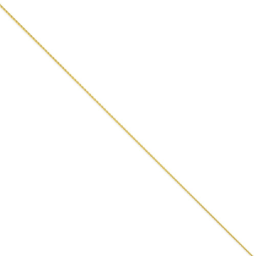 14K Yellow Gold 1.2mm Parisian Wheat Necklace Chain -9'' (9in x 1.2mm)