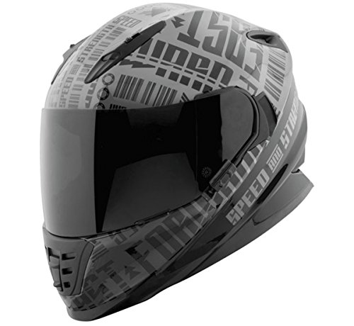 Speed and Strength SS1310 Fast Forward Charcoal/Black Full Face Helmet, XL