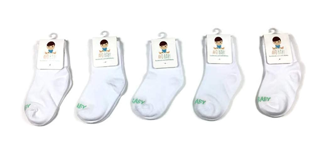 5 Pack Crew Height AFO Baby Socks SMOs and Foot Braces Ideal for Pediatric AFOs