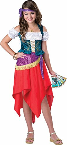 Gypsy Girl Outfits (Mystical Gypsy Girls Costume - Child Size 12)
