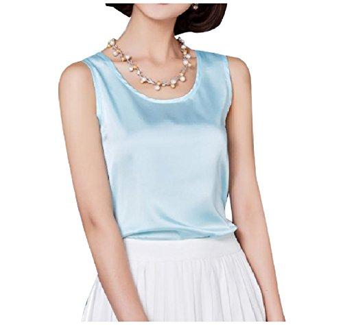 煩わしいフリース経験者Tootess 女性ファッションサテンベースの特大の高級なベストタンクトップシャツ