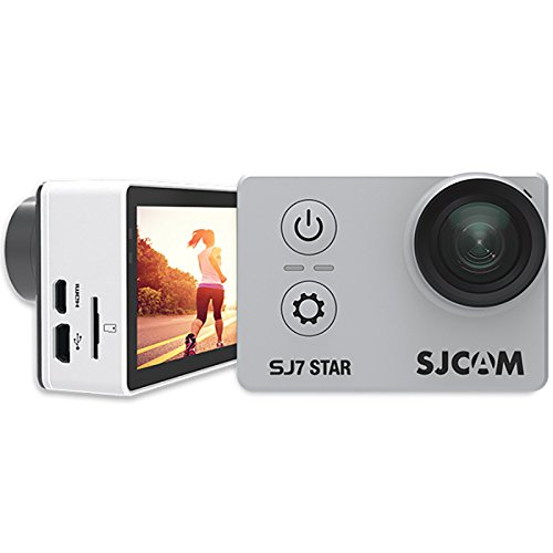 "Newest Original SJCAM SJ7 Star 4K 30fps Ultra HD 1080P Action Camera 2.0"" Touch Screen Waterproof Remote Sport DV Camera, Silver SJCAM"
