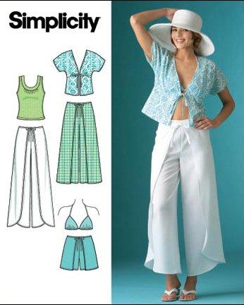 Simplicity Schnittmuster 7228 R5 Wickelhose,Kimono-Top Gr. 40-48 ...