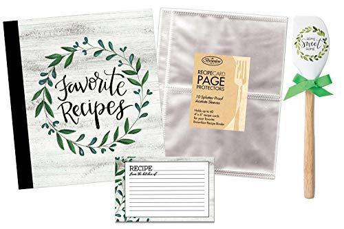 Recipe Book Bundle - Brownlow Favorite Recipes - Binder, 4 x 6 Cards, Protector Pages & Spatula
