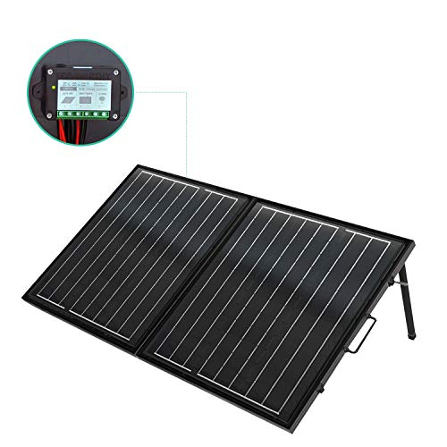 ECO-WORTHY 120 Watt 12Volt Off Grid Monocrystalline Portable Foldable Solar Panel Suitcase with Charge Controller