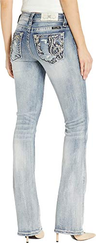 Miss Me Women's Embellished Bootcut Jeans in Light Blue Light Blue 26 ()