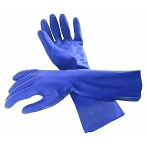 Rubbermaid Cleaning G305 Heavy-Duty Long Cuff Rubber Gloves