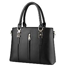 Hynbase Women's Handbag Fashion Crocodile Patent PU Leather Shoulder Crossboby Bag