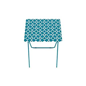 folding tray table 2 pack tv dinner trays light snack accent tables teal portable. Black Bedroom Furniture Sets. Home Design Ideas