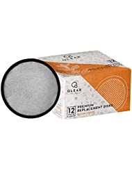Qlear-CFDSK Premium Replacement Coffee Machine Charcoal Water Filtration Disk to Use & Compatible with Mr. Coffee Coffee Makers - 12 Pack