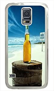 Samsung Galaxy S5 Case Cover - Nude Beach Corona Hard Case Cover Compatible with Samsung Galaxy S5 - Polycarbonate -White
