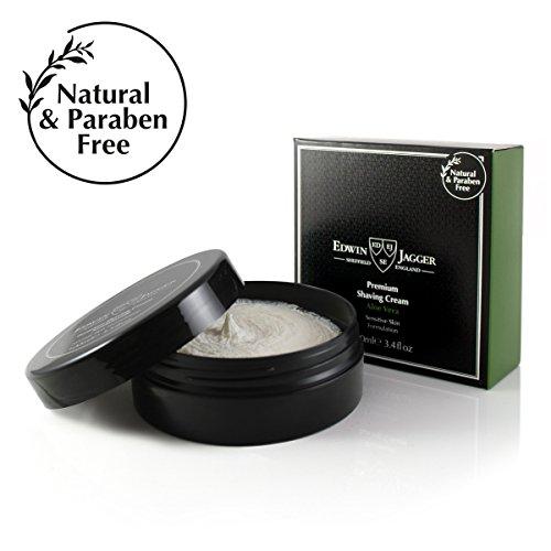 Edwin Jagger Shaving Cream - Edwin Jagger 99.9% Natural Premium Shaving Cream, 100ml Tub - Aloe Vera, 3.4-Ounce