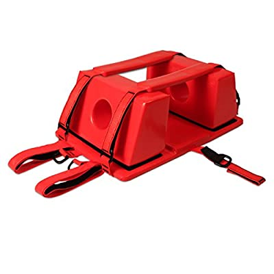 Dealmed Deluxe Orange Emergency Head Immobilizer with Straps