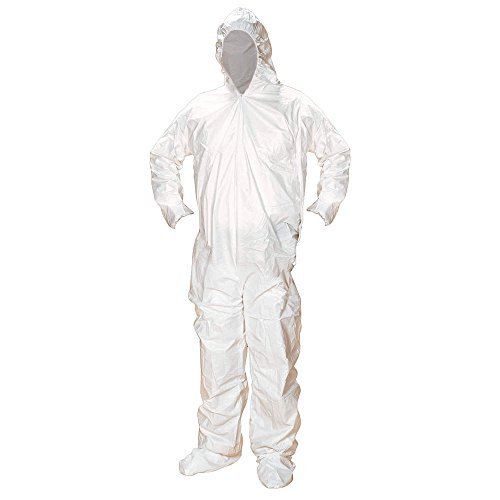 Alpha Pro Tech Critical Cover CV-J4C92-7 ComforTech Coveralls, Elastic Hood, Wrist and Ankle, AquaTrak Boots, Serged Seams, White, 4X Size (Case of (Ankles Hood)