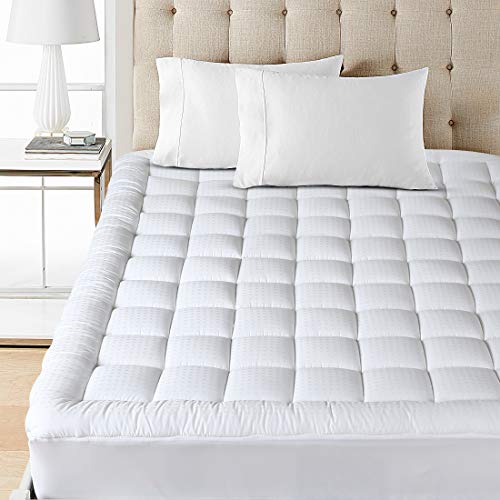 Buy Balichun Mattress Pad Cover Queen Size Pillowtop 300TC Down Alternative Mattress Topper with 8-2...